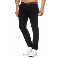 Herren Chino Regular Fit ink Gürtel TAZZIO 17508