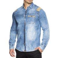 Herren Jeans Hemd TAZZIO 14601