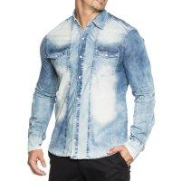 Herren Jeans Hemd TAZZIO 14607