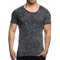 Herren T-Shirt mit Vintagewaschung TAZZIO 16157