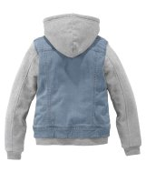 Kinder-Sweat-Jeans-Jacke, blau-grau von BUFFALO