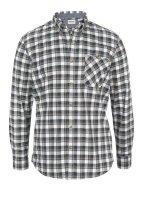 Herren-Karohemd, schwarz-weiß-khaki von Timberland