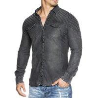 Herren Jeans Hemd Slim Fit TAZZIO 16311