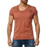 Herren T-Shirt Kurzarm Shirt und Rundhalsausschnitt 100%...