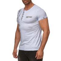 Herren T-Shirt Polo kurzarm mit Stylischem...