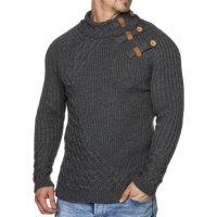 Herren Grobstrick-Pullover mit hohem Kragen TAZZIO 16481
