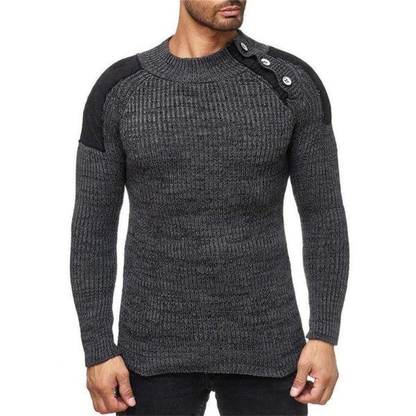 Reslad Herren Hemd Design Slim Fit Kontrast Kragen