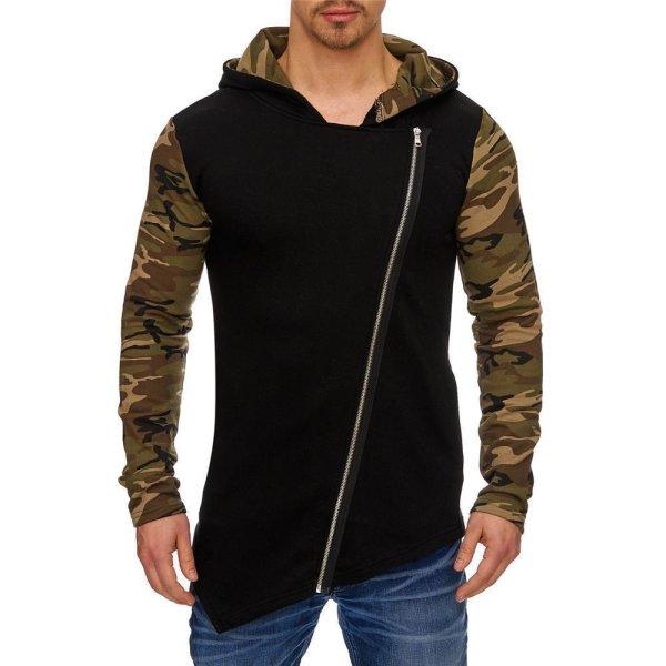 Herren Styler Oversize Sweatshirt mit Kapuze Pullover Hoodie TAZZIO 2017-M