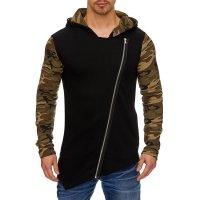 Herren Styler Oversize Sweatshirt mit Kapuze Pullover...