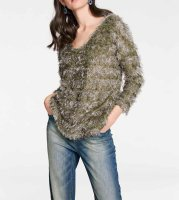 Pullover mit Pailletten, taupe von Rick Cardona