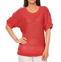 Grobstrickpullover, koralle von Ashley Brooke