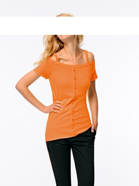 Carrépullover, orange von Heine - Best Connections