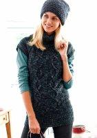 Long-Pullover, schwarz-grau von Cheer
