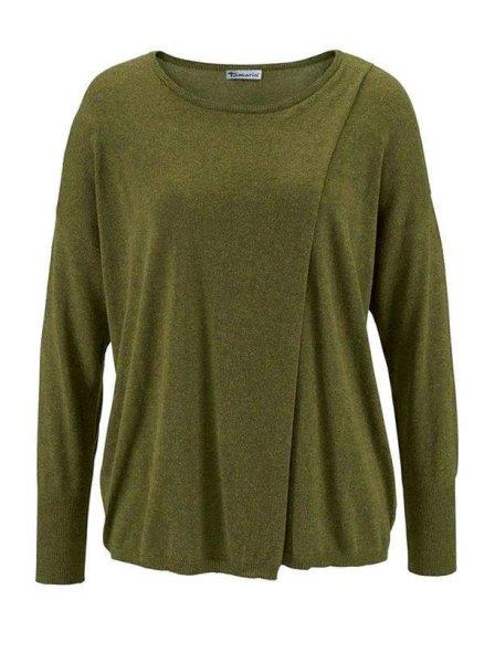 Oversized-Pullover, oliv von Tamaris