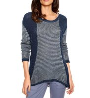 Pullover, blau-gemustert von Heine- Best Connections