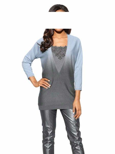 Pullover, blau-grau von S. Madan