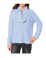 Pullover + Schal, hellblau von Ashley Brooke
