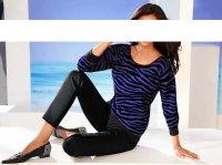 Pullover, lila-schwarz von Ashley Brooke
