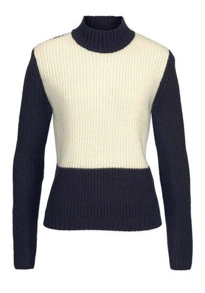 Pullover, marine-ecru von Tamaris