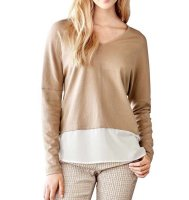 2-in-1-Feinstrickpullover, sand-creme von Travel Couture by Heine