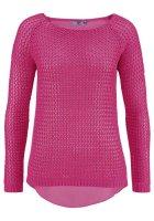 Pullover mit Chiffon, pink von AJC