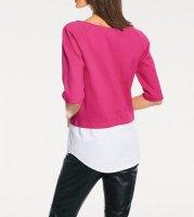 Pullover-2-in-1, pink-weiß von Rick Cardona
