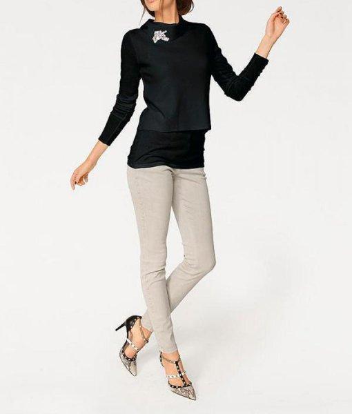 2-n-1-Pullover, schwarz von Rick Cardona