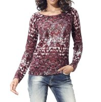 Pullover, bordeaux m. Strass von Heine - Best Connections