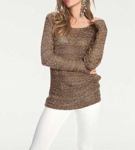 Pullover, braun-gold von Rick Cardona