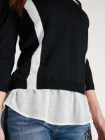 2-in-1-Pullover, schwarz-weiß von Heine