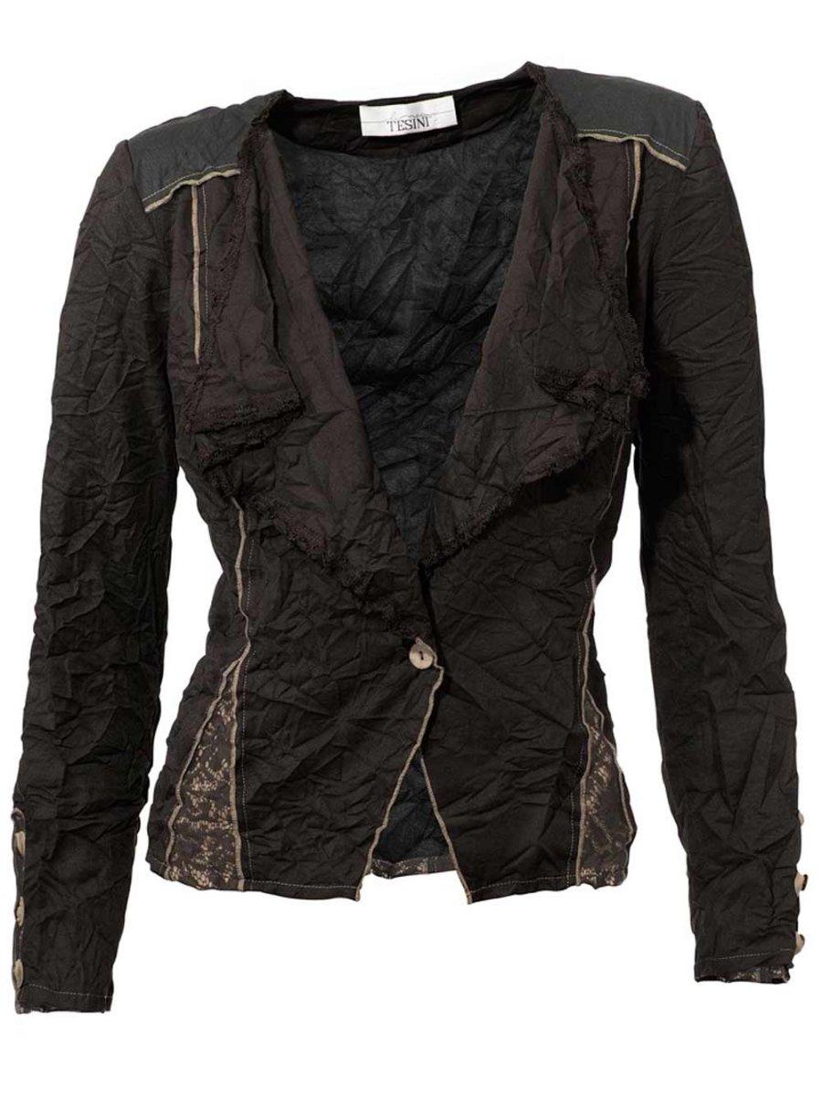 koralle Linea Tesini Damen Designer-Shirtjacke mit Spitze