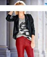 Pailletten-Shirtjacke, schwarz von Mandarin