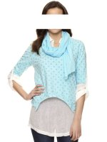 Shirt 3-Teiler, aqua-creme von Mandarin