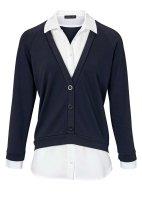 2-in-1-Blusenshirt, marine-weiß von PATRIZIA DINI