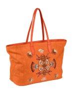 Shopper m. Pailletten, orange von Heine