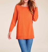 Oversizedpullover, orange von Ashley Brooke