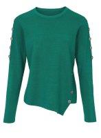 Pullover m. Knöpfen, grün von Heine