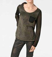 Blusenshirt, schwarz-goldfarben von Rick Cardona