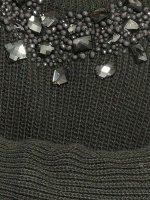 Grobstrickpullover, khaki von Rick Cardona