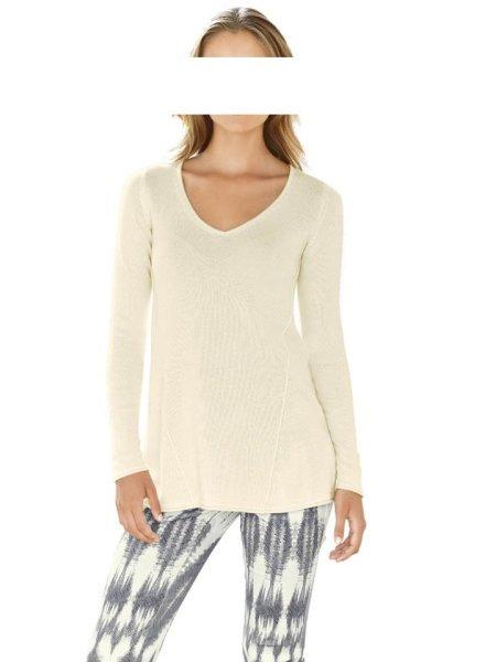 Pullover, ecru von Rick Cardona