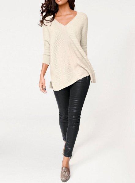 Kaschmir-Pullover, creme von PATRIZIA DINI