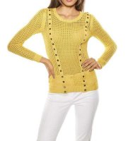 Pullover, gelb von Ashley Brooke
