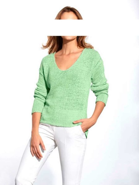 Bändchengarn-Pullover, mint von Heine