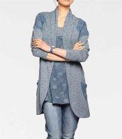 Cardigan, blau von Linea Tesini