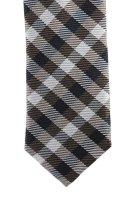 Seiden-Krawatte, taupe-marine von CLASS...