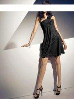 Chiffon-Abendkleid, schwarz von doridorca