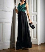 Abendkleid, schwarz-grün von Ashley Brooke