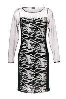 Paillettenkleid, schwarz-weiß von Mandarin