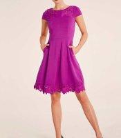 Kleid m. Stickerei, pink von Ashley Brooke