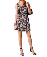 Kleid, schwarz-bunt von Aniston